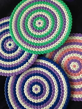 .  Make a beaded coaster Version posted by June C. Difficulty: Easy. Cost: 3/5.