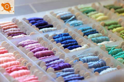 Get organized! .  Free tutorial with pictures on how to organize a thing in under 20 minutes using scissors, embroidery thread, and cardboard. How To posted by Bohemiansky. Difficulty: Easy. Cost: No cost. Steps: 3