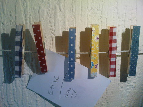 Filling a space and a need! .  Make a clothes peg in under 10 minutes by not sewing with fabric and pegs. Creation posted by Julie G. Difficulty: Easy. Cost: Absolutley free.