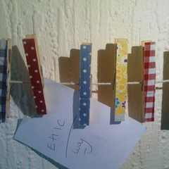 Fabric Covered Pegs