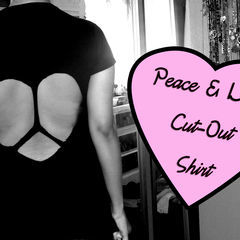 Peace & Love Cut Out Shirt