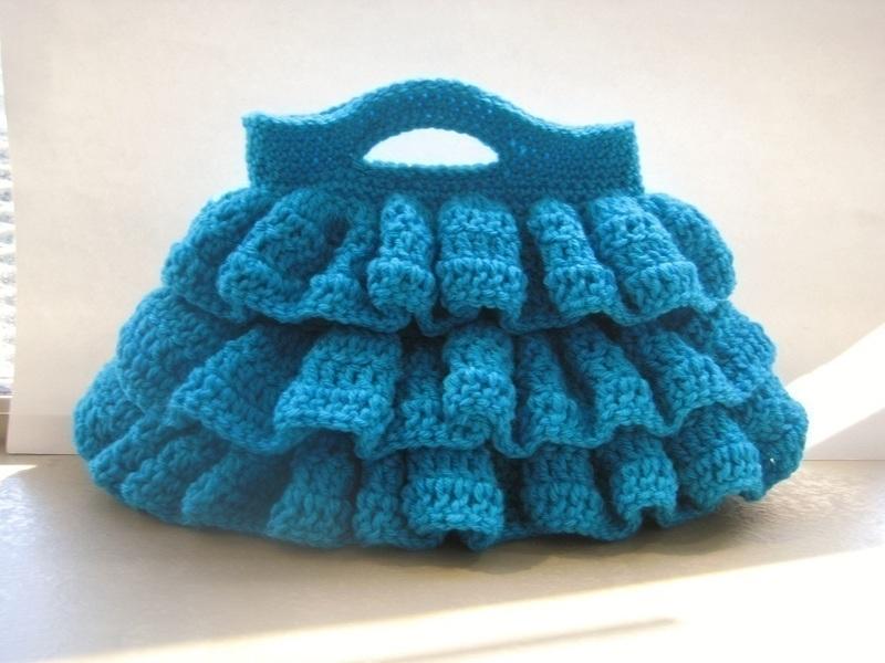 Knit Pattern Ruffle Bag : Bella Ruffled Bag ? A Knit Or Crochet Clutch ? Crochet on Cut Out + Keep