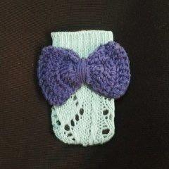 Minnie Mouse   Inspired Phone Pouch Using Recycled Crocheted Sweater