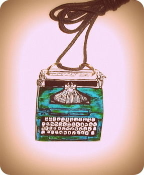 As you can not hang a typewriter poedes neck a necklace ;D .  Make a shrink plastic pendant in under 60 minutes by jewelrymaking with marker pen and shrink plastic. Inspired by vintage & retro. Creation posted by vasilena s. Difficulty: 3/5. Cost: Absolutley free.