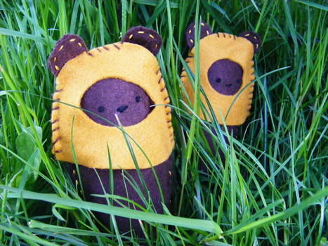 Cute Felty Ewoks .  Make a Star Wars plushie in under 60 minutes by embroidering and sewing with felt, stuffing, and embroidery thread. Inspired by star wars and creatures. Creation posted by PixieFey. Difficulty: Simple. Cost: Cheap.
