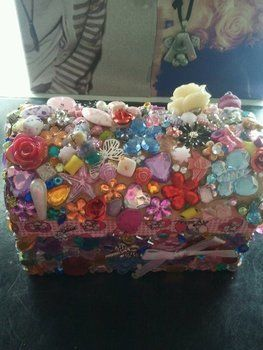 Kawaii desu ne? ^-^ .  Embellish a decoden box by decorating with rhinestones. Inspired by kawaii. Creation posted by ~-*animelover~-*. Difficulty: Easy. Cost: Cheap.