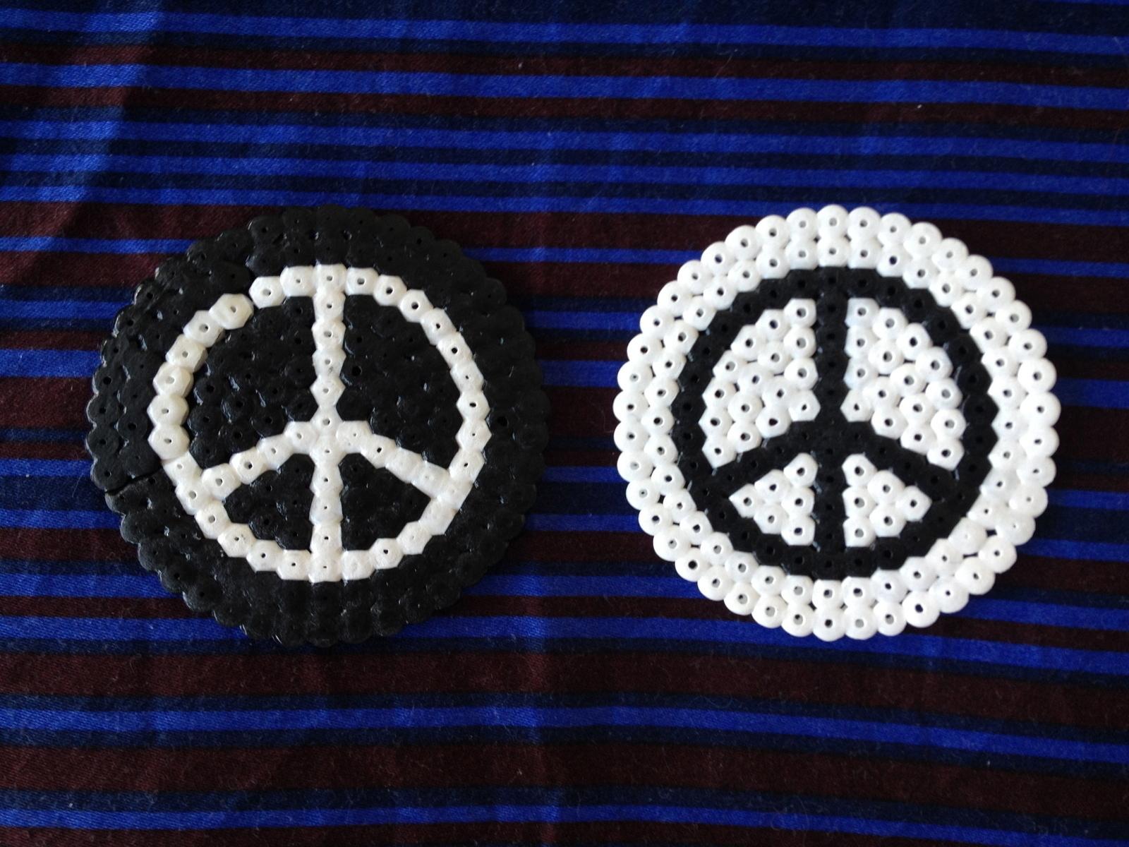 Black hama beads