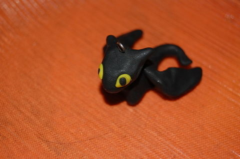 "Toothless, the night fury from how to train your dragon .  Sculpt a clay dragon in under 25 minutes by molding with sculpey clay and wire loop. Inspired by dragon and night fury ""toothless"". Creation posted by Eszti . Difficulty: Simple. Cost: Absolutley free."