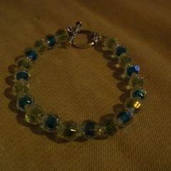 Green And Blue Crystal Bracelet