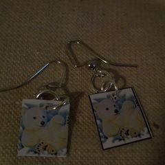 Sticker And Cardboard Earrings