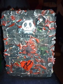 Gothic,goth,jack skellington, mini drawers, punk,emo,scene,paper mache .  Make a drawer in under 180 minutes by molding, Papier-mâchéing, and decorating with paint, paint, and newspaper. Inspired by halloween, gothic, and punk. Creation posted by Dead Kiss. Difficulty: 3/5. Cost: Absolutley free.