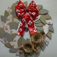 Coffee Cardboard Recycled Wreath