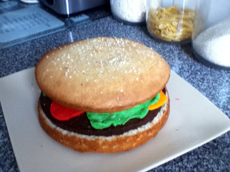 Burger Cake A Food Shaped Cooking Baking And