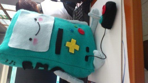 BMO andventure time .  Make a gadget plushie in under 150 minutes by needleworking and sewing with felt, thread, and needle. Inspired by adventure time. Creation posted by BrownieDmota. Difficulty: Easy. Cost: Cheap.