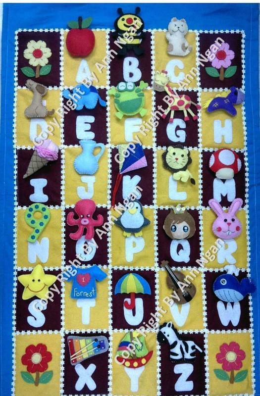 Felt Alphabet Hanging Matching Games 183 A Board Game Piece