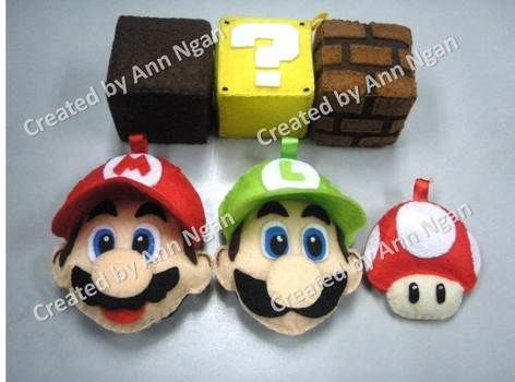 Nice Gift to Mario Fans ^^  .  Sew a computer game plushie in under 180 minutes by needleworking, sewing, and felting with felt, fabric glue, and sewing equipment. Inspired by crafts, super mario, and super mario. Creation posted by Ann N. Difficulty: Simple. Cost: Cheap.