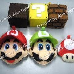Kawaii Felt Mario