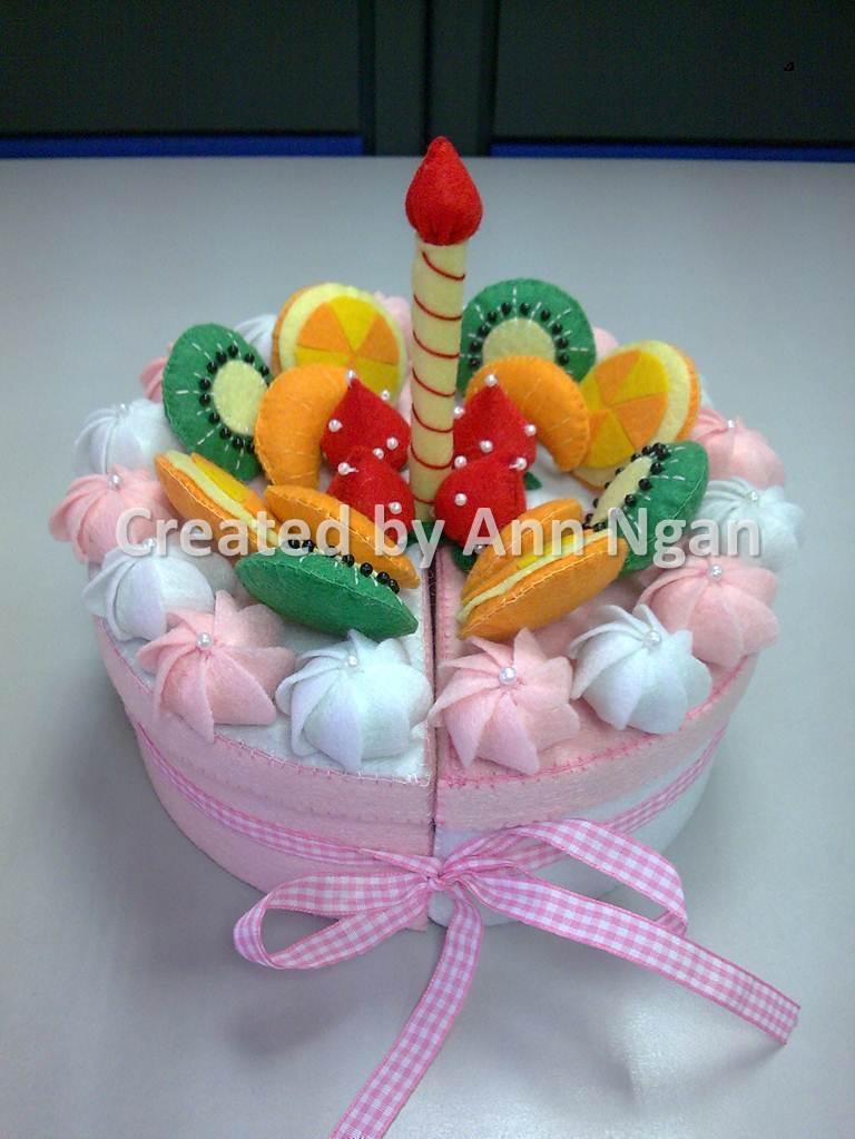 Felt Birthday Cake Storage Box 183 A Fabric Box 183 Needlework