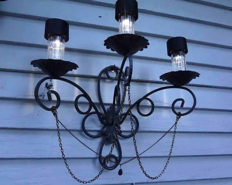 Fancy Outdoor Solar Light · How To Make A Chandelier · Spray Painting and Decorating on Cut Out