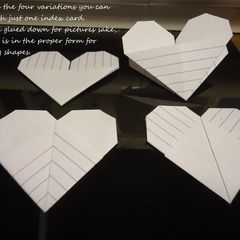 Origami Index Card Heart