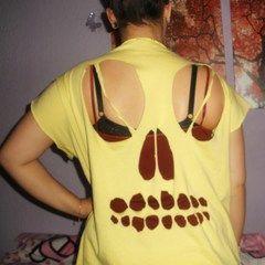 Skull Back T Shirt