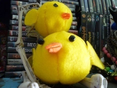 He is the awesome! .  Free tutorial with pictures on how to make a chick plushie in under 30 minutes by sewing with scissors, felt, and beads. Inspired by creatures, costumes & cosplay, and clothes & accessories. How To posted by Joy K. Difficulty: Simple. Cost: Absolutley free. Steps: 1