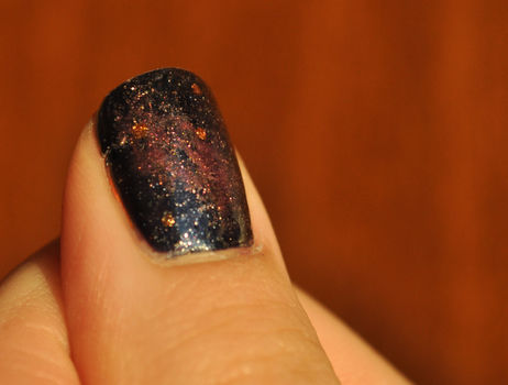 Galaxy nails from outer space!  .  Paint patterned nail art in under 30 minutes by nail painting, decorating, and nail painting with nail polish. Inspired by space and galaxy print. Creation posted by Jamie Fame Flame. Difficulty: Easy. Cost: No cost.