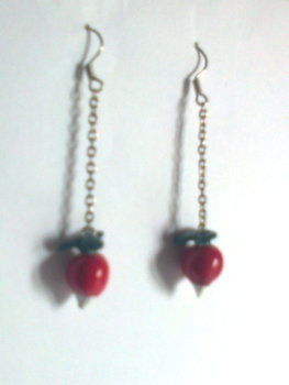Actually, they're dirigible plums. .  Make a chain earring in under 50 minutes by jewelrymaking and molding with paint, polymer clay, and earring hooks. Inspired by harry potter. Creation posted by Minimax. Difficulty: Easy. Cost: Absolutley free.