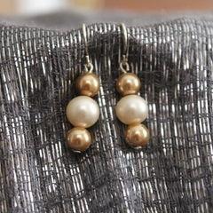 Tri Pearl Earrings