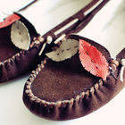 Leather Feather Moccasins