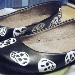 Alexander Mc Queen Inspired Skull Ballet Flats