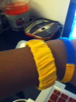 .  Make a wrapped bangle in under 10 minutes Version posted by Black Fire. Difficulty: Easy. Cost: No cost.