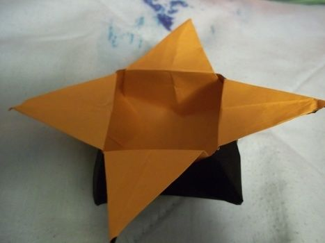 Star power! .  Fold an origami box in under 5 minutes by paper folding with origami paper. Creation posted by Ashley P. Difficulty: Easy. Cost: Absolutley free.