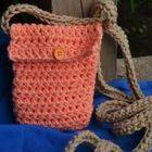 Crochet Peach Pouch