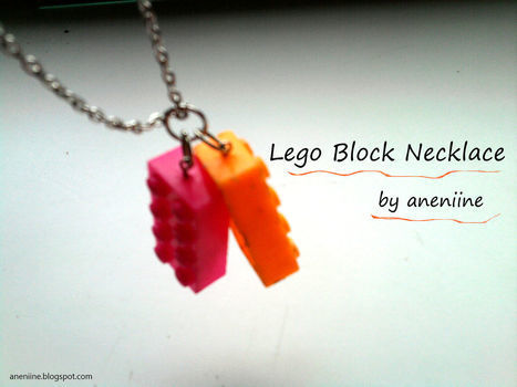 Cool Lego Block Necklace DIY .  Free tutorial with pictures on how to make a Lego necklace in under 15 minutes by jewelrymaking with materials and lego. Inspired by lego. How To posted by aneniine. Difficulty: Easy. Cost: Absolutley free. Steps: 11