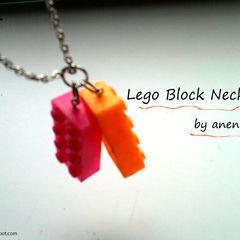 Lego Block Necklace