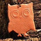 Clay Cut Out Owl Pendant