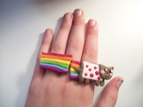 Nyan nyan nyan nyan nyan nyan nyan nyan nyan nyan nyan nyan nyan  .  Make a clay ring in under 90 minutes by jewelrymaking and decorating with clay. Inspired by monsters, kawaii, and clothes & accessories. Creation posted by OshawottPrincess. Difficulty: 3/5. Cost: Cheap.