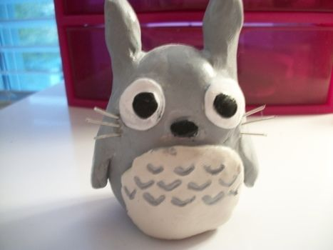 Tee hee :) soo cute :3 .  Sculpt a clay bear in under 60 minutes by creating and weaving with wire, acrylic paint, and clay. Inspired by my neighbor totoro, monsters, and kawaii. Creation posted by OshawottPrincess. Difficulty: 3/5. Cost: Cheap.