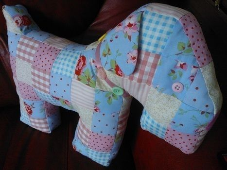 Cute Cath Kidston patchwork doggie .  Make a beagle plushie by needleworking, sewing, and patchworking with fabric, buttons, and stuffing. Inspired by cath kidston. Creation posted by lururu. Difficulty: 3/5. Cost: 3/5.