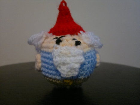 Om Gnome Gnome! .  Free tutorial with pictures on how to make a food plushie in under 180 minutes by amigurumi and crocheting with crochet hook, embroidery thread, and wool. Inspired by for dads, garden, and domo kun. How To posted by HotPinkCrayola. Difficulty: 3/5. Cost: Cheap. Steps: 6
