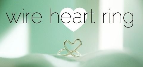 Bend a wire heart ring. .  Free tutorial with pictures on how to make a ring in under 10 minutes by jewelrymaking and wireworking with wire and round nose pliers. Inspired by hearts, hearts, and hearts. How To posted by The Perfect Pear. Difficulty: Easy. Cost: No cost. Steps: 6