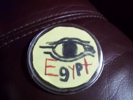 Hieroglyphical! .  Make a pin badge in under 10 minutes by drawing with pin back buttons. Inspired by clothes & accessories and egypt. Creation posted by Ashley P. Difficulty: Easy. Cost: Absolutley free.