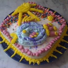 Happy Rainbow Fish Cake