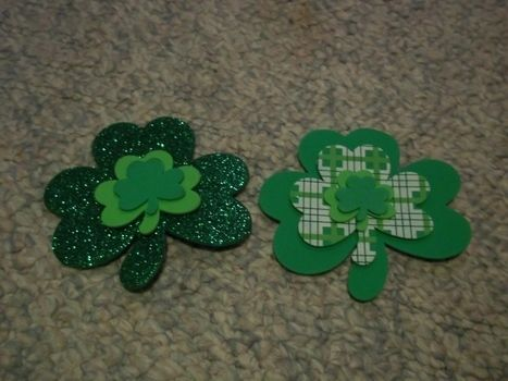 Shamrock on! .  Create art / a model in under 5 minutes using foam. Inspired by st patrick's day and shamrocks. Creation posted by Ashley P. Difficulty: Easy. Cost: Absolutley free.