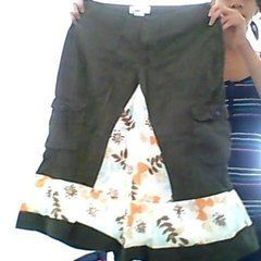 Turning Cargo Pants Into A Cute Skirt :)