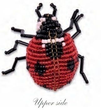 Beaded Seven-Spotted Ladybug (Coccinella septempunctata)  .  Free tutorial with pictures on how to make a beaded animal in under 120 minutes by beading with wire, seed beads, and seed beads. Inspired by ladybirds. How To posted by Andrews McMeel. Difficulty: 3/5. Cost: Cheap. Steps: 18