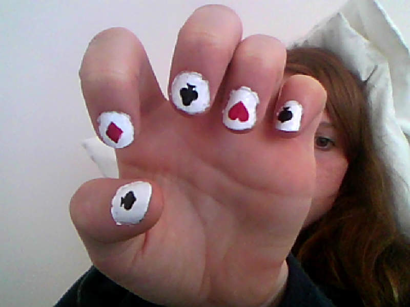 Playing Cards Nails A Themed Nail Manicure Makeup Techniques