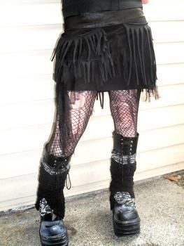 .  Make a revamped skirt in under 60 minutes by embellishing and sewing Inspired by gothic and clothes & accessories. Version posted by ErsatzEpiphany. Difficulty: Simple. Cost: Absolutley free.