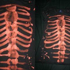 Bleach Print Skeleton Shirt